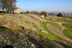 Het Romeins theater in Autun in Bourgondië, Frankrijk