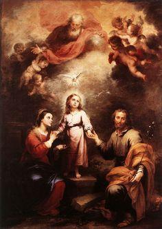 Bartolomé Esteban Murillo: Heilige Trinität mit Maria (links) und Joseph, 1675 - 1682, in der National Gallery in London