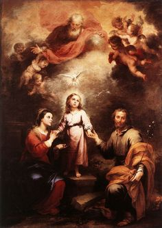THE HEAVENLY AND EARTHLY TRINITIES, painted by Bartolome Esteban Murillo