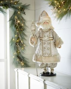 "H7WG3 Katherine's Collection Maurice Noel 35"" Santa Doll"