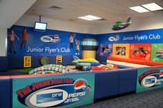 The Jr Flyers Club Play areas are located at Gates B-12 and C-14 at DFW