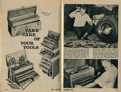 The Garage Journal Old Tools, Vintage Tools, Tool Organization, Cool Bikes, Take Care Of Yourself, Tool Box, Check It Out, Vintage Posters, Workshop