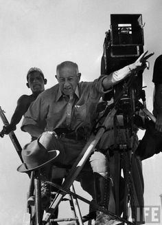Cinephilia and Beyond • The legendary director Cecil B. DeMille on the set...