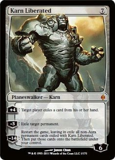 Magic: the Gathering - Karn Liberated - New Phyrexia by Wizards of the Coast. $30.49. A single individual card from the Magic: the Gathering (MTG) trading and collectible card game (TCG/CCG).. This is of Mythic Rare rarity.. From the New Phyrexia set..