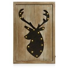 Wilko Led Stag Wall Art