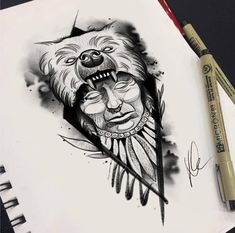 Native American Tattoos, Native Tattoos, Tattoos For Lovers, Tattoos For Guys, Native Drawings, Bear Tattoos, Gaming Tattoo, Sleeve Tattoos For Women, Future Tattoos