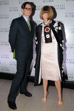 Inauguracion exposicion Mario Testino en Boston: Anna Wintour de Prada junto a Hamish Bowles