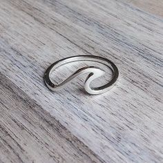 Silver Wave Ring   Bohemian Jewellery   Indie and Harper