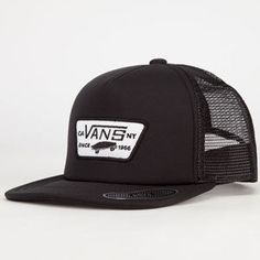aa2c23f3609 VANS Full Patch Boys Trucker Hat - BLACK - VN-00BPBLK