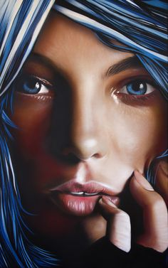 "Jerom Art; Painting ""Blue Girl"""