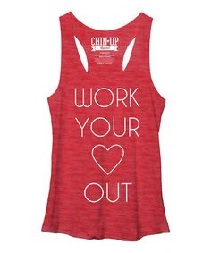 Red Heather 'Work Your Heart Out' Racerback Tank #zulily #zulilyfinds