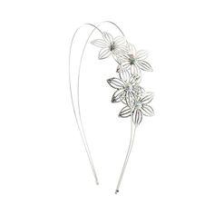 Serre-tête double à fleurs avec strass aurores boréales, Bal de fin d'année, Serre-tête, Cheveux, tous, Serre-tête, Cheveux et grandes occas...