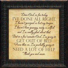 'Dear God' Framed Textual Art