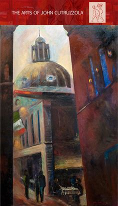 """Evening In Rome, 24""""x48"""", Oil On Canvas"""
