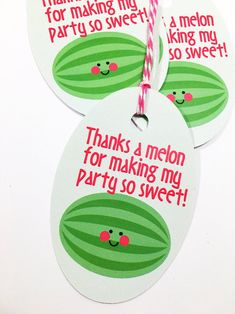 Watermelon Favor Tags, One in a melon Tags, watermelon gift bag tags, one in a melon loot bag tags - Geschenktüten 1st Birthday Decorations, First Birthday Themes, First Birthday Gifts, First Birthday Photos, 1st Birthday Girls, First Birthdays, Birthday Ideas, Watermelon Birthday Parties, Fruit Birthday