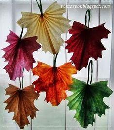 Varázspor: Falevél-dekoráció papírból Fall Crafts For Kids, Summer Crafts, Diy And Crafts, Paper Folding Crafts, Paper Crafts, Rainy Day Fun, 4th Grade Art, Plastic Bottle Crafts, Origami Design