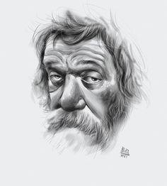 Old man  - digital waterbrush