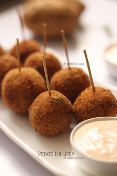 Potato Lollipop recipe | crispy potato balls Video recipe Potato Balls Recipe, Potato Recipes, Vegetarian Starters, Lollipop Recipe, How To Make Potatoes, Oil For Deep Frying, Food Advertising, Crispy Potatoes, Caramel Apples