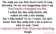 from my own blog: What I Learned in 2013 #christianity #bethmoore #encourage