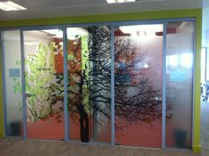 Glass etching film from Vision Sign - striking way to transform office walls. Window Glass Design, Irish Design, Window Graphics, Window Film, Glass Film, Office Walls, Glass Etching, Design Firms, Signage
