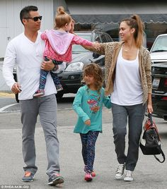 Keeping it wholesome! Jessica Alba enjoyed Sunday brunch at a healthy Brentwood eatery with her husband Cash and their children Honor, five, and Haven, 23 months