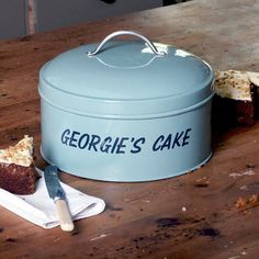 Personalised Cake Tin from Jonny`s Sister - what a great present!