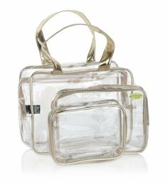Outstanding Value 3 Piece Clear Cosmetic Bag Set - Marks \u0026amp; Spencer - 6.50