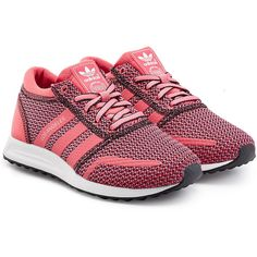 Adidas Originals Los Angeles Sneaker ❤ shoes, sneakers, pink, mesh sneakers, adidas originals shoes, adidas originals trainers, mesh shoes and pink sneakers, lush pink
