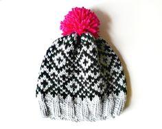Child's Beanie Hat - Nordic Pom Pom Hat - Scandinavian Hand Knitted Hat £22.00