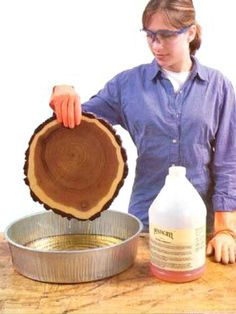 How to preserve wood slices: