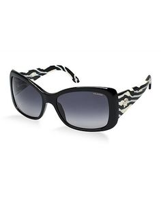 7e1c94f798f8d Black   white cat eye sunglasses by Versace - modern and trendy design with  classic lines
