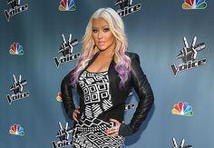 Christina Aguilera at #TheVoice press junket. #TeamXtina