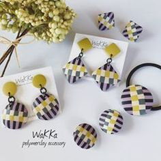 Polymer Clay Canes, Polymer Clay Pendant, Polymer Clay Projects, Polymer Clay Creations, Polymer Clay Earrings, Clay Crafts, Stick Art, Biscuit, Precious Metal Clay