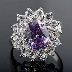 'Amethyst & White Gold Ring Size 8' is going up for auction at 12pm Tue, Aug 7 with a starting bid of $20.