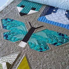"""If you look closely you can see that I stitched in the ditch around all of the blocks, then I also machine quilted an outline about 1/2"""" on the outside of blocks"""