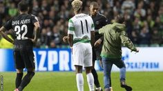 A fan runs towards PSG star Kylian Mbappe during the match at Celtic Park  Celtic  have been charged by Uefa after a fan ran on to the pitch and appeared  to aim a kick at Paris St-Germain striker Kylian Mbappe.  The  incident happened late in the first half of Tuesday's Champions League  match at Celtic Park shortly after the visitors' third goal in a 5-0  win. PSG also face a charge after seats were damaged in the away section.  The case will be dealt with by Uefa's control ethics and…