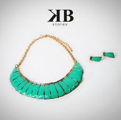 Te gusto!!! encuentralo en KB Stores de #sanjuanshoppingcenter Collar con Aretes / Cod. 54806 / RD$ 545 #bavaro #puntacana #kbstores