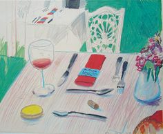 David Hockney menu cover
