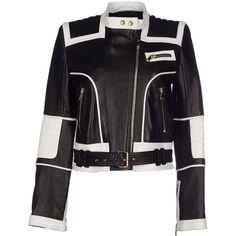 Balmain Jacket ($2,829) ❤ liked on Polyvore featuring outerwear, jackets, black, zipper jacket, black zip jacket, real leather jacket, black jacket i zip pocket jacket
