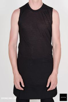 Rick Owens BASIC SLEEVELESS T - black 135 € | Seven Shop
