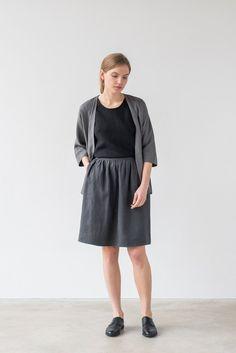 Ofelia skirt in charcoal gray