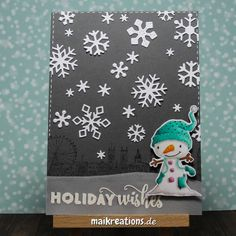 """Wintery Holiday card with """"Winterberry"""" from Purple Onion Designs. More pictures and a list of supplies can be found on www.maikreations.de"""