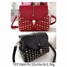 TST1064 Red Black PU IDR 155.000 22x10x18 0.7Kg  Hubungi kami di:  Line: girlia_id Telegram: @girliaid CS1 : D0D1B201 / WA: 081347103932 CS2 : D21B1E5B / WA: 08125658895 IG testi: @testigirlia  Girlia Fashionstore your chic #dailygears  #beautiful #fashion #instafashion #purse #shopping #stylish #girliaproject #girliafashionstore #tasimportmurah #tas #tasfashion #grosirtasmurah #tasbatammurah #taskorea #tasbranded #tasmurmer