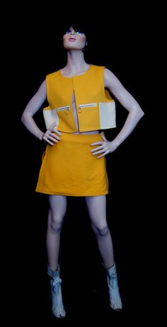 Iconic Mod Courreges Space Age Mini Skirt and by ModVibeVintage