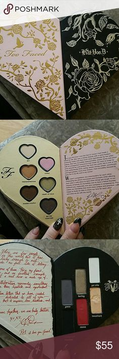 Too Faced X Kat Von D Better Together Palette Limited Edition collaboration with Too Faced and Kat Von D Beauty. The palette only. Used only for swatches and a make up tutorial. Too Faced Makeup Eyeshadow