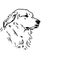 Great Pyrenees Silhouette Dog Embroidered Fabric Quilt