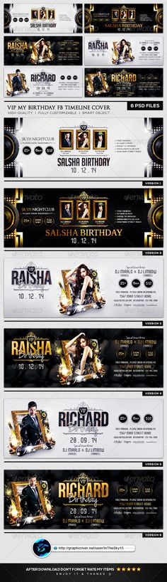 VIP My Birthday FB Timeline Cover