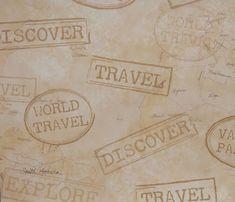 Scrapbook Paper 12 x 12  Vacation, Travel & Destination Theme Scrapbook Paper