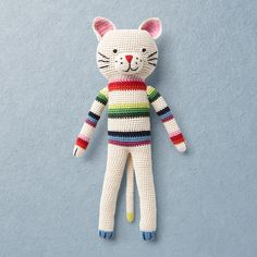 Crochet toys from ANN-CLAIRE PETIT are designed in The Netherlands and produced in developing countries with respect for the local people. They are handmade. Hand Crochet, Crochet Toys, Claire, Organic Cotton, Baby, Christmas Ornaments, Holiday Decor, Handmade, Pullover