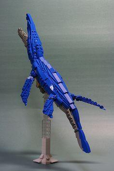 Kronosaurus made from Lego - skilfully done! Lego Dinosaurus, Legos, Lego Jurassic Park, Lego Dragon, Lego Custom Minifigures, Lego Sculptures, Lego Animals, Amazing Lego Creations, Lego Activities